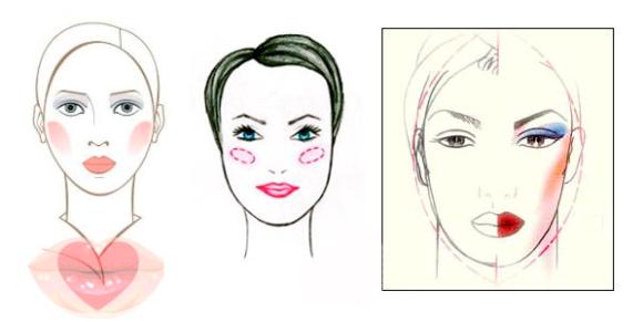 фото макияж для овального лица