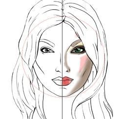 Красивый макияж для круглого лица 2