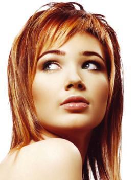 челки короткие косые фото