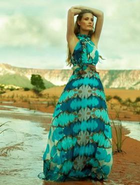 Летние платья в пол цвет фото